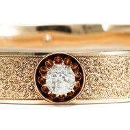 Ein superbes Geschenk der Liebe - 1,30 ct Altschliff Diamant im Gold-Armreif, um 1890. Photo © 2018 Hofer Antikschmuck Berlin