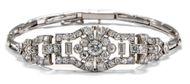 Am Puls der Zeit - Edles Platin-Armband des Art Déco mit 3,40 ct Diamanten, um 1930. Photo © 2018 Hofer Antikschmuck Berlin