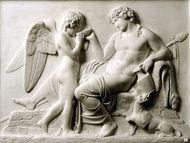Genussreiche Ingeborg - Silber Dose mit Achat Kamee nach Thorvaldsen: Bacchus und Amor, um 1890. Photo © 2018 Hofer Antikschmuck Berlin