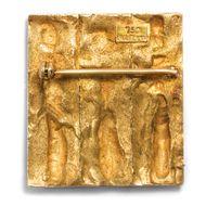Zwischen Handwerk und Kunst - Ausdrucksstarke Goldbrosche von Anton Frühauf, Meran 1914-1999. Photo © 2019 Hofer Antikschmuck Berlin