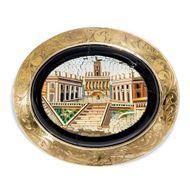 Roma Eterna - Brosche mit Mikromosaik des Kapitol, Rom 1850er Jahre. Photo © 2019 Hofer Antikschmuck Berlin