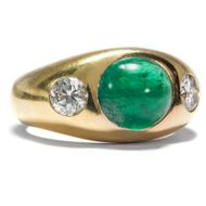 Hochfeiner SMARAGD & DIAMANT RING in 750 Gold Brillant / Bandring EMERALD 18K