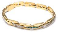 Samtig golden - Feines Jugendstil Armband aus Gold, Smaragden und Diamanten, um 1900. Photo © 2018 Hofer Antikschmuck Berlin
