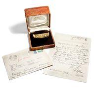 Ein Auftrags(laub)werk - Granuliertes Armband mit Perlen & Diamanten von Johann Michael Wilm, um 1955. Photo © 2019 Hofer Antikschmuck Berlin