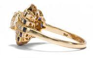 Lust an der Schönheit - Vintage Diamant- & Saphir-Ring der frühen 1990er Jahre. Photo © 2019 Hofer Antikschmuck Berlin