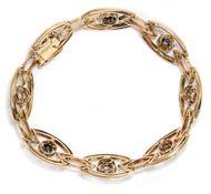 Italienischer Jugendstil  - Antikes Goldarmband mit Saphiren & Diamanten, um 1900. Photo © 2018 Hofer Antikschmuck Berlin