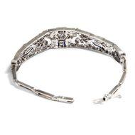 Ein Diamantgarten - Elegantes Diamant-Armband mit Saphiren, um 1920. Photo © 2019 Hofer Antikschmuck Berlin