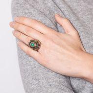 Gold und Silber lieb ich sehr - Expressiver Art Déco Künstler-Ring mit Chrysopras, um 1930. Photo © 2018 Hofer Antikschmuck Berlin