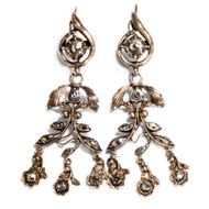 Um 1780: Antike OHRRINGE, Rotgold & Diamant Diamanten, Georgian Diamond Earrings