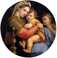 Einmal in Florenz sein - Raffaels Madonna della Seggiola in Emailmalerei und Gold, um 1870. Photo © 2018 Hofer Antikschmuck Berlin
