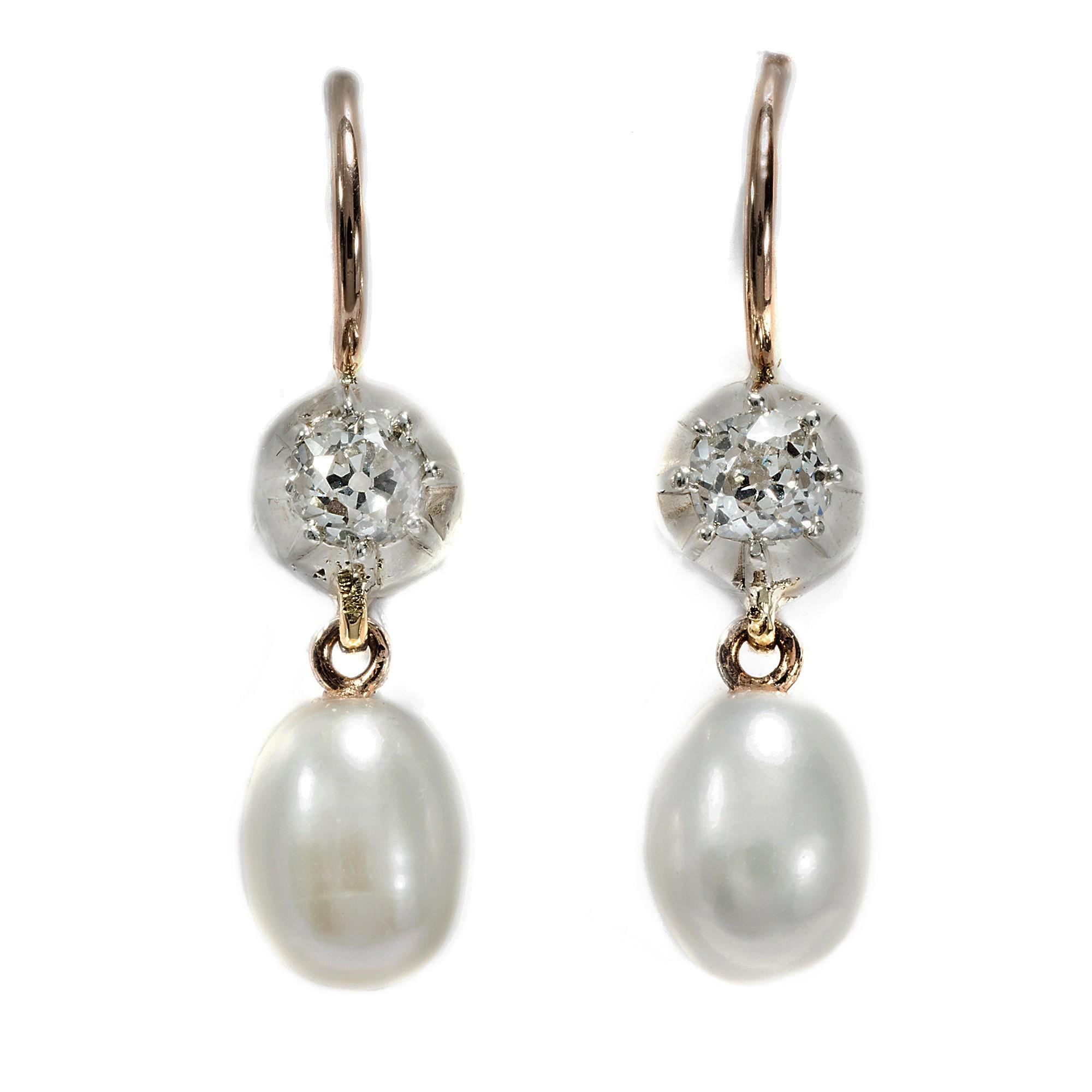 edle tropfen ohrringe perlen altschliff diamanten in silber gold earrings ebay. Black Bedroom Furniture Sets. Home Design Ideas