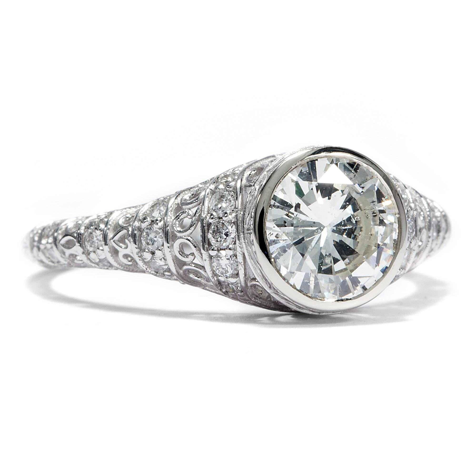 einkar ter diamant solit r ring in 585 wei gold brillant verlobungsring diamond ebay. Black Bedroom Furniture Sets. Home Design Ideas