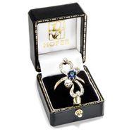 Römische Elegien - Großer Jugendstil-Ring mit Saphir & Diamanten, Italien um 1900. Photo © 2019 Hofer Antikschmuck Berlin