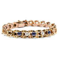 Wenn die Nacht zum Tage wird - Prachtvolles Saphir- & Diamant-Armband in Gold, 1890er Jahre. Photo © 2019 Hofer Antikschmuck Berlin
