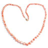 Vintage Collier aus Engelshaut Koralle, rosa Koralle, Korallenkette / pink Coral