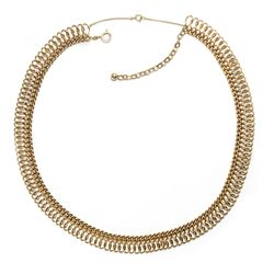 Um 1960: Schönes 585er GOLD Collier, Kette Goldkette / 14ct vintage necklace