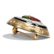 Aus dem Reich der Pharaonen? - Antikes Mikromosaik in Goldfassung als Brosche, Rom um 1875. Photo © 2018 Hofer Antikschmuck Berlin