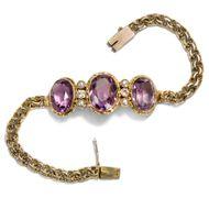 Der Duft von Lavendel - Antikes Goldarmband mit Amethysten, Diamanten und Saatperlen, um 1910. Photo © 2018 Hofer Antikschmuck Berlin
