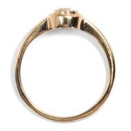 Glücksversprechen in Roségold - Aus unserer Werkstatt: Ring mit erstklassigem 0,33 ct Diamanten in Roségold. Photo © 2018 Hofer Antikschmuck Berlin
