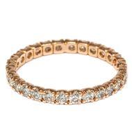 Dezente Opulenz - Vintage Memory-Ring mit 1,27 ct Diamanten in Roségold, um 2000. Photo © 2018 Hofer Antikschmuck Berlin