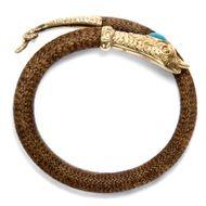 Uraltes Symbol - Biedermeierliches Armband aus Haar, Gold & Türkis, um 1840. Photo © 2018 Hofer Antikschmuck Berlin