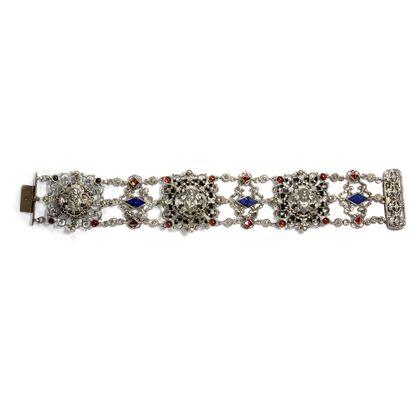 Verschenkt 1883 - Prachtvolles Silber- & Gold-Armband des Historismus der Familie Hermeling aus Köln. Photo © 2019 Hofer Antikschmuck Berlin