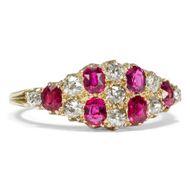 Victoria´s Secret - Viktorianischer Rubin & Diamant-Ring in Gold, Großbritannien um 1895. Photo © 2018 Hofer Antikschmuck Berlin