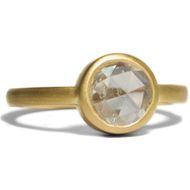 Antike Diamantrose mit 1,0 ct in 900er Gold, Einkaräter Diamant Ring