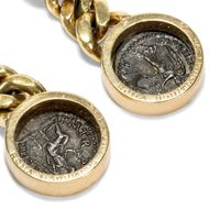 Pecunia non olet - Prachtvolle vintage Ohrclips von Bulgari mit antiken römischen Münzen, um 1990. Photo © 2018 Hofer Antikschmuck Berlin