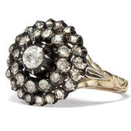Es müssen nicht immer Tulpen sein - Prachtvoller Ring mit Diamantrosen in Gold & Silber, Niederlande um 1955 . Photo © 2018 Hofer Antikschmuck Berlin
