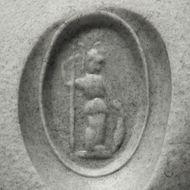 Hüterin der Weisheit - Antike römische Karneol-Gemme in einem modernen Goldring. Photo © 2018 Hofer Antikschmuck Berlin