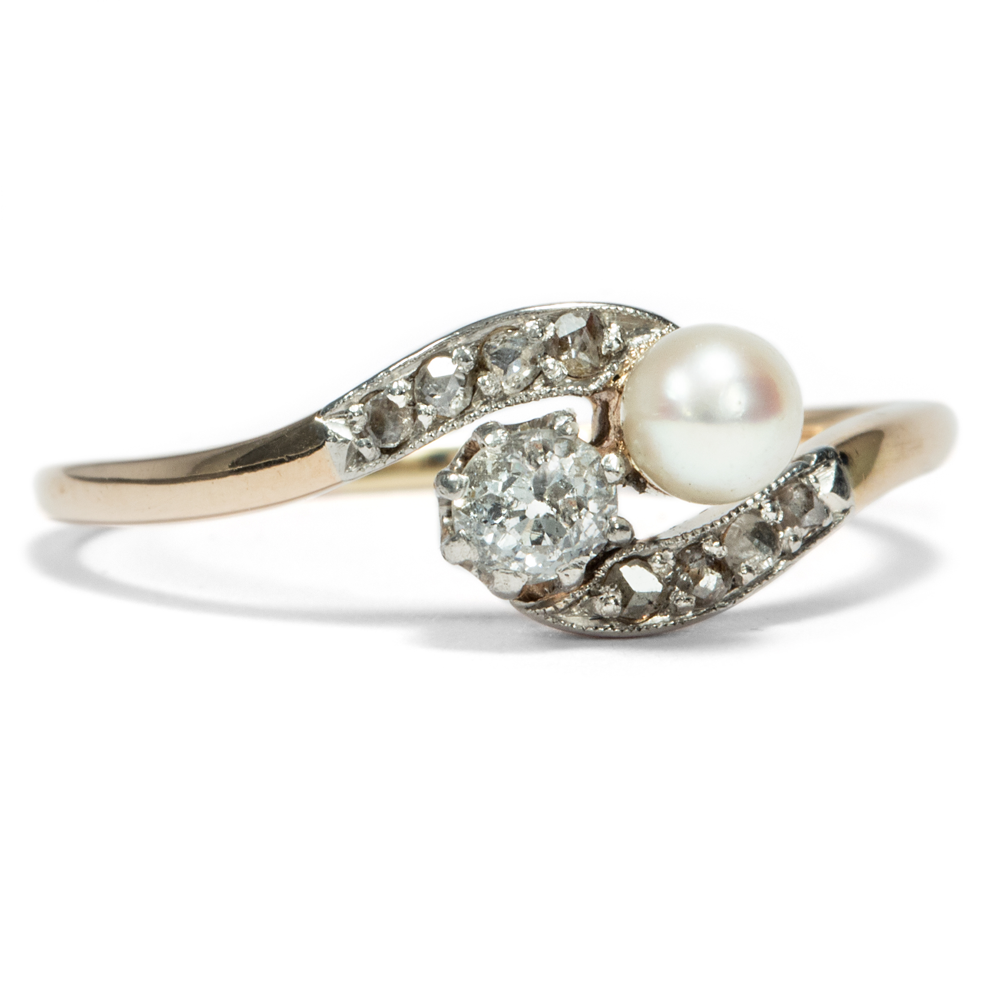 in ring rings cultured gold wedding pearl yellow