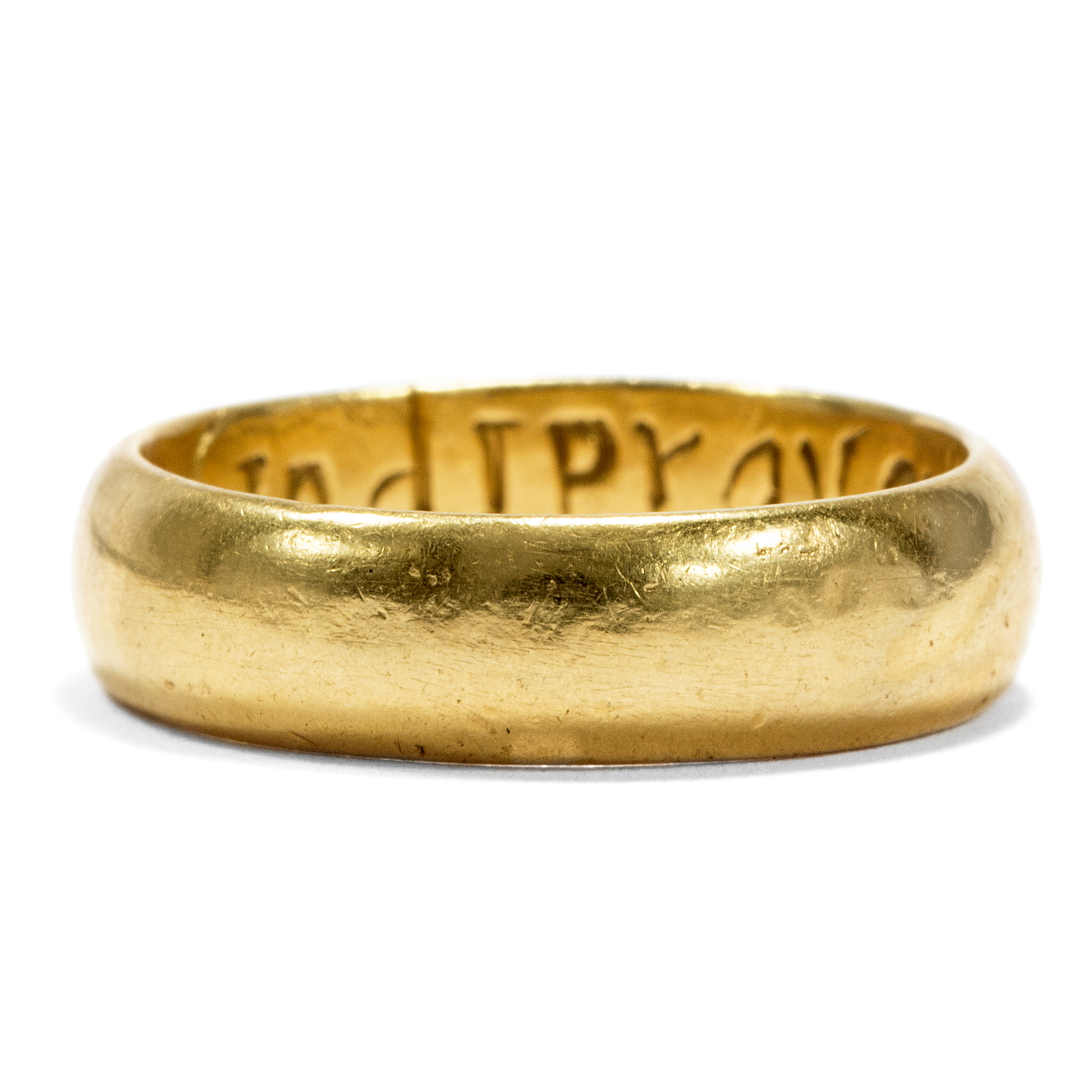 2018 Gold Plated Lord of The Rings Inspired Engraved Inscription Ring Necklace
