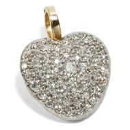 Blame Cupid! - Romantischer Anhänger aus Gold, Platin & 2,69ct Diamanten, England um 1910. Photo © 2019 Hofer Antikschmuck Berlin