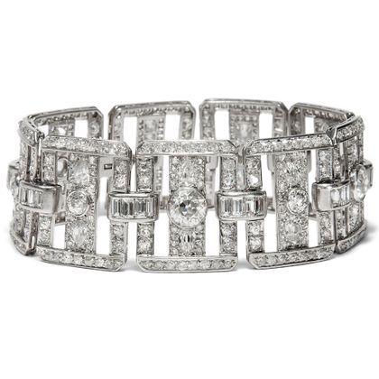 Brillance Toujours - Atemberaubendes Platin Armband des Art Déco mit 25,04 ct Diamanten, um 1930. Photo © 2018 Hofer Antikschmuck Berlin