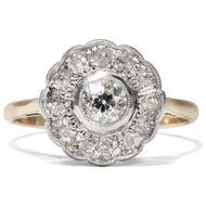 Unschuldige Blüte - Zauberhafter Diamant-Ring in Gold & Platin, Großbritannien um 1910. Photo © 2018 Hofer Antikschmuck Berlin