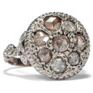 Um 1770: Antiker Diamant Ring Gold, Silber & Diamanten / Georgian Diamond Rokoko