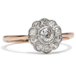 Antiker Ring, Diamanten in Gold & Platin, Verlobungsring, Daisy England um 1930