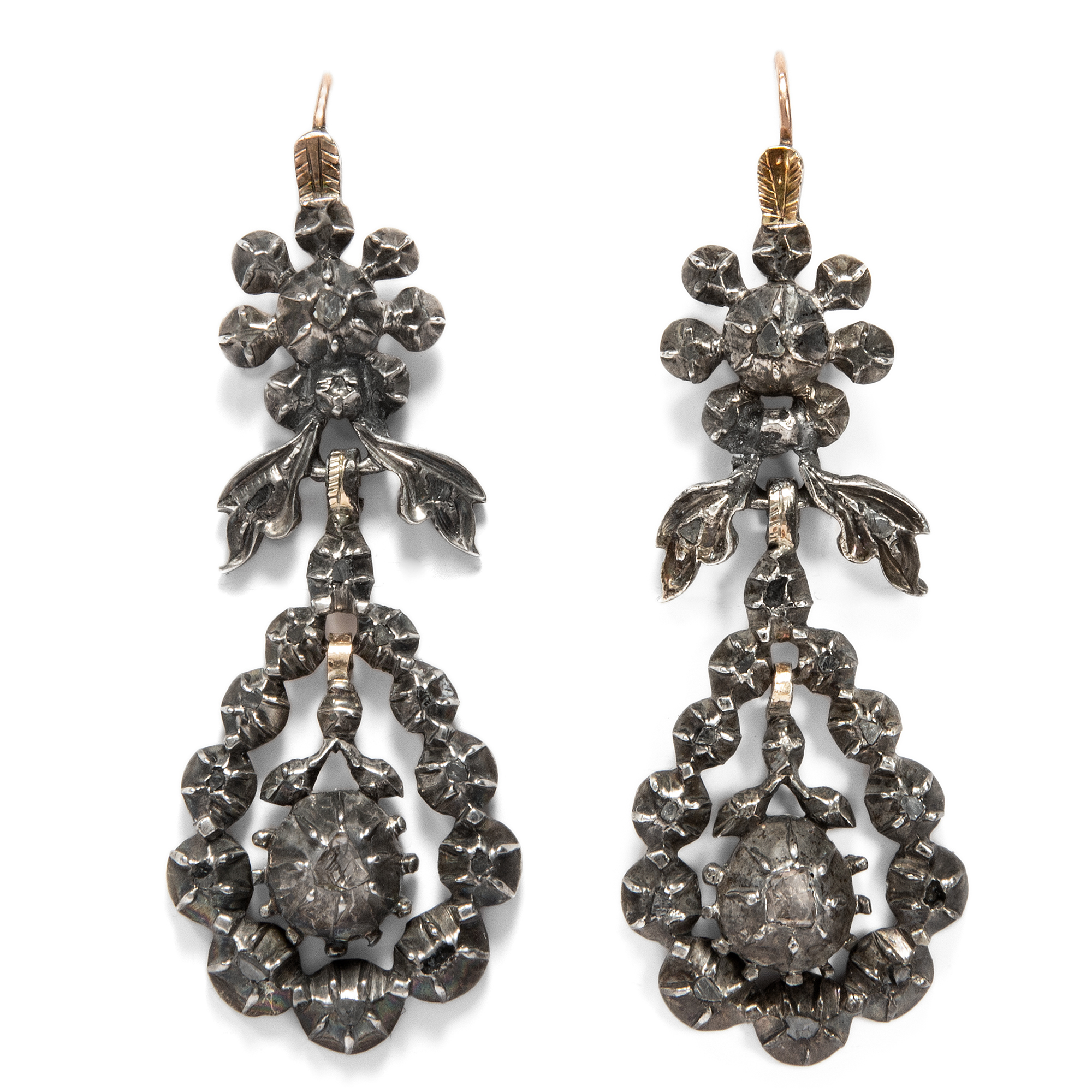 diamond designer antique jewellery temple earrings