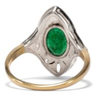 Smaragdliebe - Wunderbarer Smaragd-Ring mit Diamanten des Art Déco, 1920er Jahre. Photo © 2018 Hofer Antikschmuck Berlin