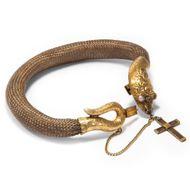 Erinnern und Beschützen - Antikes Schlangen-Armband des Biedermeier aus Haar & Gold, Schweden 1822. Photo © 2019 Hofer Antikschmuck Berlin