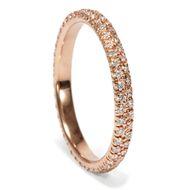 Zwei Reihen Erinnerung - Edler Memory-Ring mit 0,52 ct Diamanten in Roségold aus zeitgenössischer Produktion. Photo © 2019 Hofer Antikschmuck Berlin