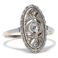 Antiker Diamant RING der Belle Époque, Diamanten in Gold & Platin Verlobungsring