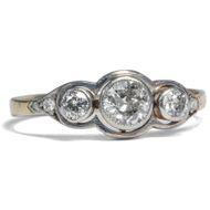 Bezaubernder Diamant Ring in 585 Gold & Platin, um 1910 / Verlobung Brillant