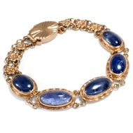 Sapphire Skies – für den Arm - Wunderbares Art Déco Armband mit Saphiren in Gold, China um 1940. Photo © 2018 Hofer Antikschmuck Berlin