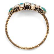 Denk an mich zärtlich... - Viktorianischer Türkis- & Perl-Ring in Gold, England, datiert 1881. Photo © 2018 Hofer Antikschmuck Berlin