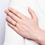 Glücksversprechen in Roségold - Aus unserer Werkstatt: Ring mit erstklassigem 0,27 ct Diamanten in Roségold. Photo © 2019 Hofer Antikschmuck Berlin