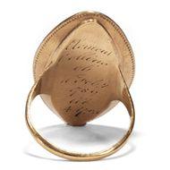 Kindertotenlieder - Georgian: englischer Trauerring für Clement Collins aus Gold & Haar, datiert 1789. Photo © 2018 Hofer Antikschmuck Berlin