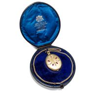 Hamilton & Co, Calcutta: Großer Gold Diamant Rubin Medaillon Anhänger, um 1900