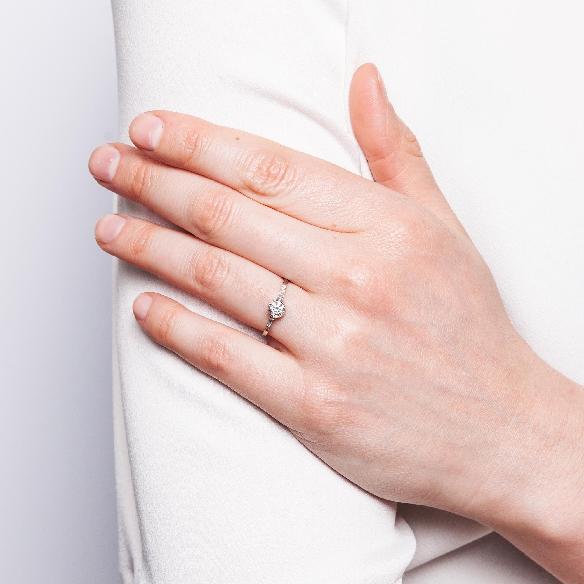 Immer Dein In Weissgold Aus Unserer Werkstatt Verlobungsring Mit